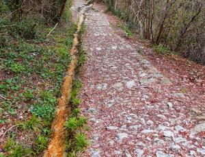 sentiero lastricato