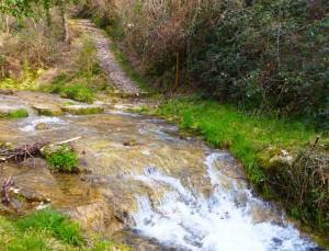 torrente Silan e strada lastricata