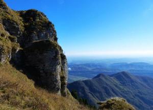 panorama sopra il bivacco dei Loff