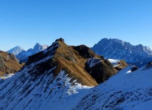 versanti a nord con neve e ghiaccio